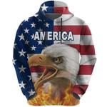 American Eagle Flag Hoodie K8