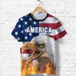 American Eagle Flag T Shirt K8