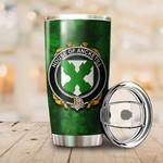 Ancketill Family Crest Ireland Shamrock Tumbler Cup K6