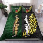 Anzac Spirit, Lest We Forget Bedding Set K5 Green