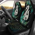 Aotearoa Car Seat Covers Manaia Silver Fern Paua Shell TH45