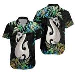 Aotearoa Hawaiian Shirt Manaia Silver Fern Paua Shell TH45