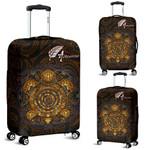 Aotearoa Luggage Covers Sliver Fern and Yellow Turtle Maori Version K13