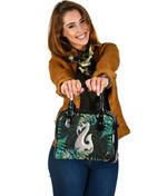 Aotearoa Shoulder Handbag Manaia Silver Fern Paua Shell TH45