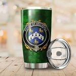 Archdall Family Crest Ireland Shamrock Tumbler Cup  K6