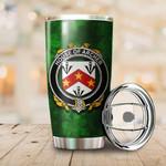 Archer Family Crest Ireland Shamrock Tumbler Cup  K6
