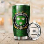 Aries Family Crest Ireland Shamrock Tumbler Cup  K6