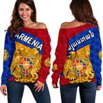 Armenia Women Off Shoulder Sweater Sporty Style K8