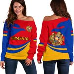Armenia Women Off Shoulder Sweater Version K4