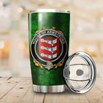 Armstrong Family Crest Ireland Shamrock Tumbler Cup  K6