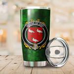 Ash Family Crest Ireland Shamrock Tumbler Cup  K6