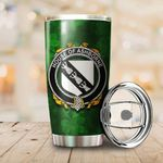 Ashborne Family Crest Ireland Shamrock Tumbler Cup  K6