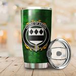 Aston Family Crest Ireland Shamrock Tumbler Cup  K6