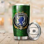 Aungier Family Crest Ireland Shamrock Tumbler Cup  K6