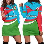 Azerbaijan Women Hoodie Dress Proud Version K4