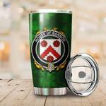 Bannon or O'Bannon Family Crest Ireland Shamrock Tumbler Cup  K6