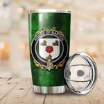 Barton Family Crest Ireland Shamrock Tumbler Cup  K6
