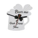 Beer me Irish Drink Time Wooden Wall Clock