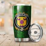 Begg Family Crest Ireland Shamrock Tumbler Cup  K6