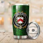 Behan Family Crest Ireland Shamrock Tumbler Cup  K6