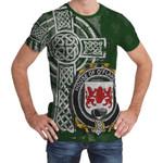 Irish Family, Flaherty or O'Flaherty Family Crest Unisex T-Shirt Th45