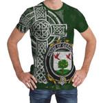 Irish Family, Geraghty or McGarrity Family Crest Unisex T-Shirt Th45