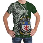 Irish Family, Haugher or O'Haffey Family Crest Unisex T-Shirt Th45