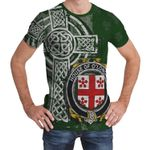 Irish Family, Langan or O'Longan Family Crest Unisex T-Shirt Th45