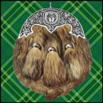 Irish Family, Mc Auliffe Irish Coat of Arms Dress Fur Sporran TH5