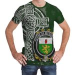 Irish Family, McGuiness or McGenis Family Crest Unisex T-Shirt Th45