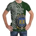 Irish Family, Meagher or O'Maher Family Crest Unisex T-Shirt Th45