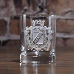 Irish Family, Personalized Family Crest Whiskey Glasses, Crown Shield Family Crest, SET OF 8 (crest) TH5
