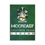 Irish Garden Flag, Mccready Or Mccreadie Family Crest Shamrock Yard Flag A9