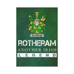 Irish Garden Flag, Rotheram Family Crest Shamrock Yard Flag A9