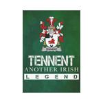 Irish Garden Flag, Tennent Family Crest Shamrock Yard Flag A9