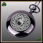 Irish Graham Crest Family Coat of Arms Black Pocket Watch TH5