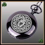 Irish Griffin Crest Family Coat of Arms Black Pocket Watch TH5