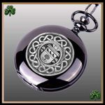 Irish Hagerty Crest Family Coat of Arms Black Pocket Watch TH5