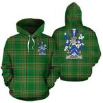 Bagot Ireland Hoodie Irish National Tartan (Pullover) | Women & Men | Over 1400 Crests