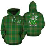 Aherne or Mulhern Ireland Hoodie Irish National Tartan (Pullover) | Women & Men | Over 1400 Crests