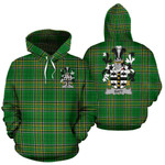 Batt Ireland Hoodie Irish National Tartan (Pullover)   Women & Men   Over 1400 Crests
