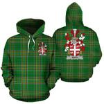 Bath Ireland Hoodie Irish National Tartan (Pullover) | Women & Men | Over 1400 Crests
