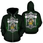 Trumbull or Turnbull Ireland Zip Hoodie Original Irish Legend | Over 1400 Crests | Women and Men | Clothing