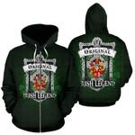 Friel or O'Friel Ireland Zip Hoodie Original Irish Legend | Over 1400 Crests | Women and Men | Clothing
