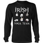 Irish Yoga Team T-Shirt H5 District Long Sleeve Shirt / Black S T-Shirts