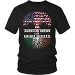 Irish Roots T-Shirt X1 District Unisex Shirt / Black S T-Shirts