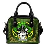 Gallagher or O'Gallagher Ireland Shoulder HandBag Celtic Shamrock | Over 1400 Crests | Bags | Premium Quality