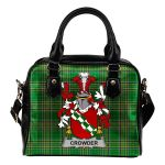 Crowder Ireland Shoulder Handbag Irish National Tartan  | Over 1400 Crests | Bags | Water-Resistant PU leather