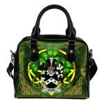 Davis Ireland Shoulder HandBag Celtic Shamrock | Over 1400 Crests | Bags | Premium Quality