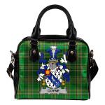 Coyne or O'Coyne Ireland Shoulder Handbag Irish National Tartan    Over 1400 Crests   Bags   Water-Resistant PU leather